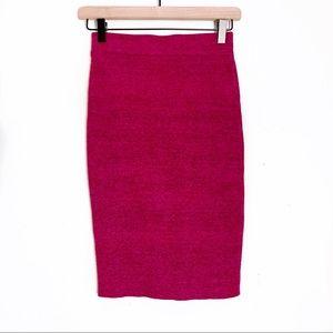 Lulu's | Hot Heather Pink Stretch Pencil Skirt S